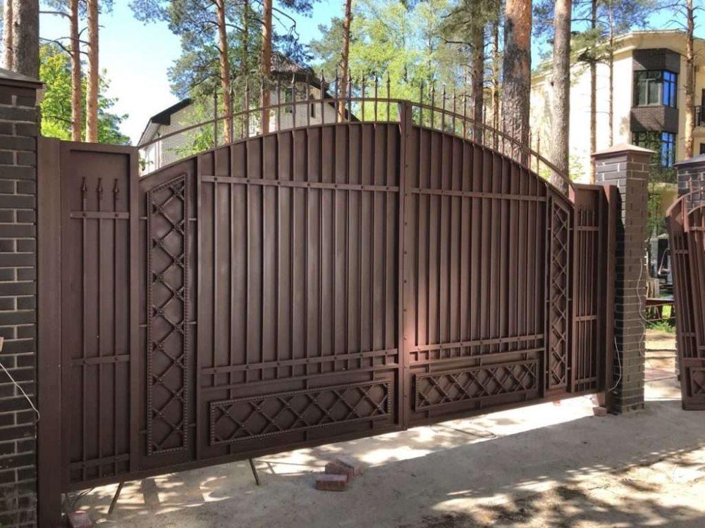 ворота на участок