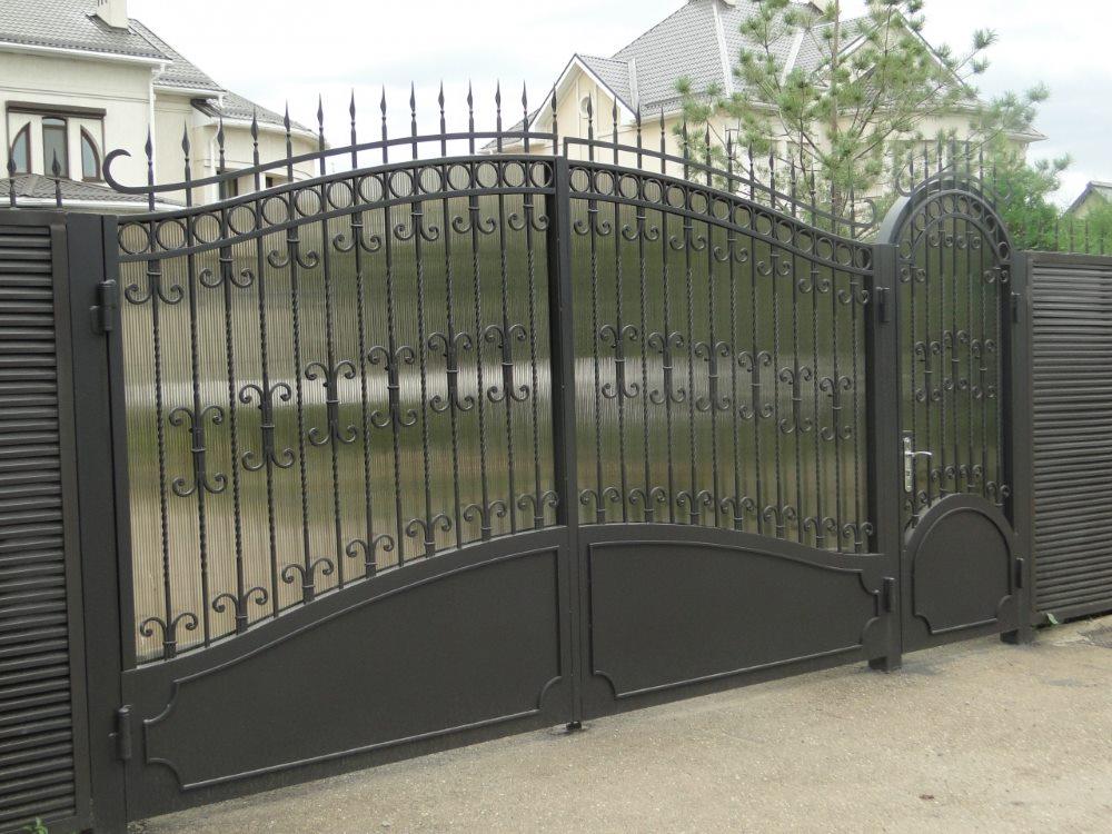 распашные ворота сварные