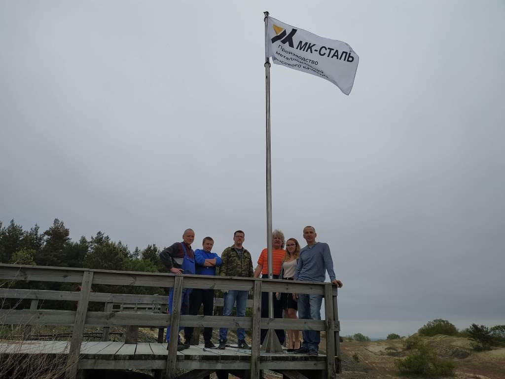 установка флагштока на дюне Эфа 2